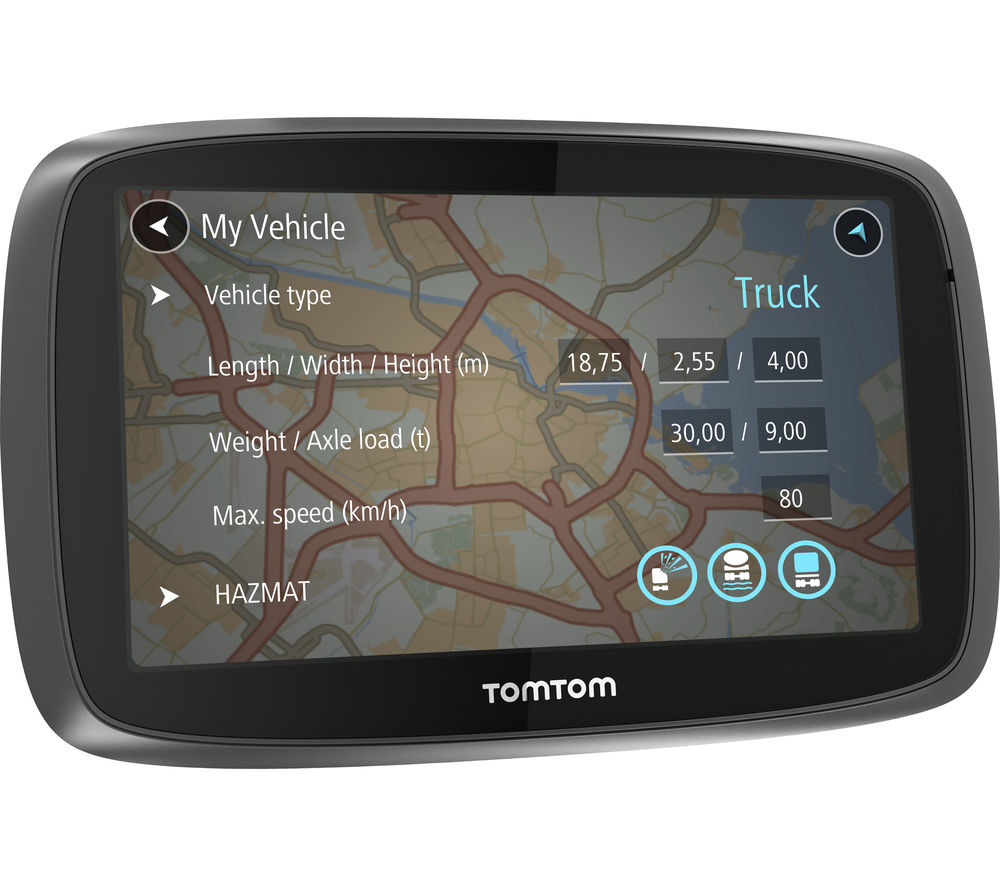 "TOMTOM Trucker 6000 Truck 6"" Sat Nav - with UK, ROI & Full Europe Maps"