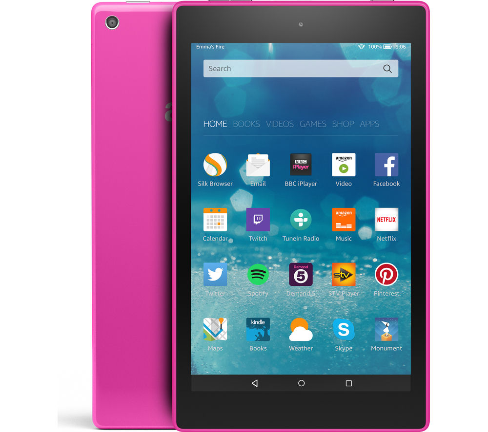 "Image of Amazon Fire HD 8"" Tablet - 8 GB, Purple"