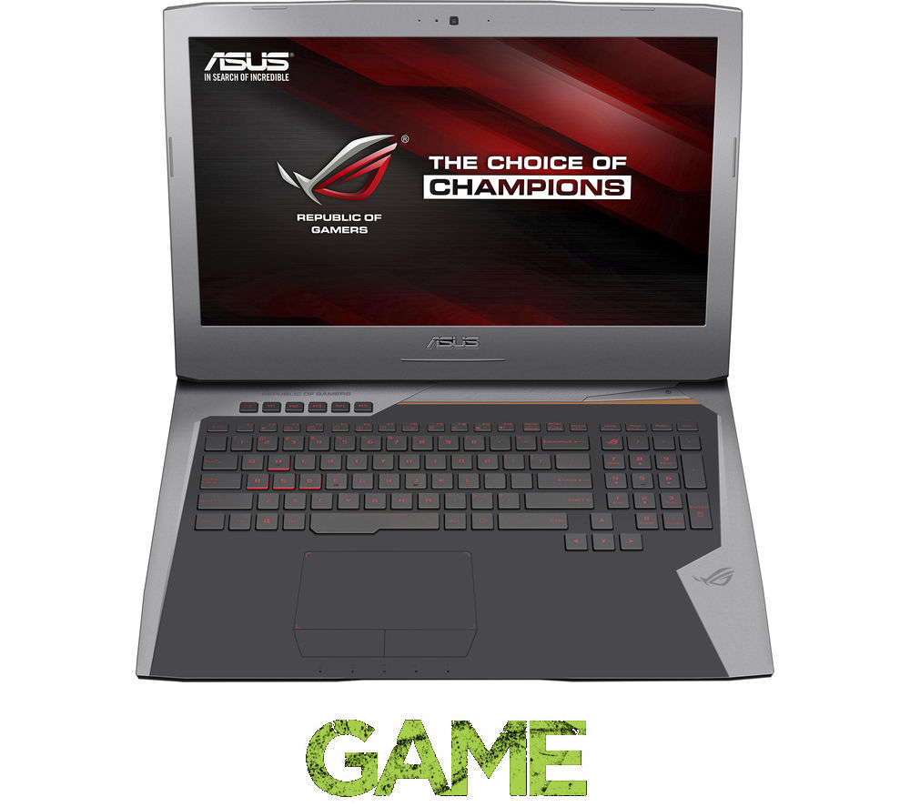 "Image of Asus Republic of Gamers G752VY-T7049T 17.3"" Gaming Laptop - Silver"
