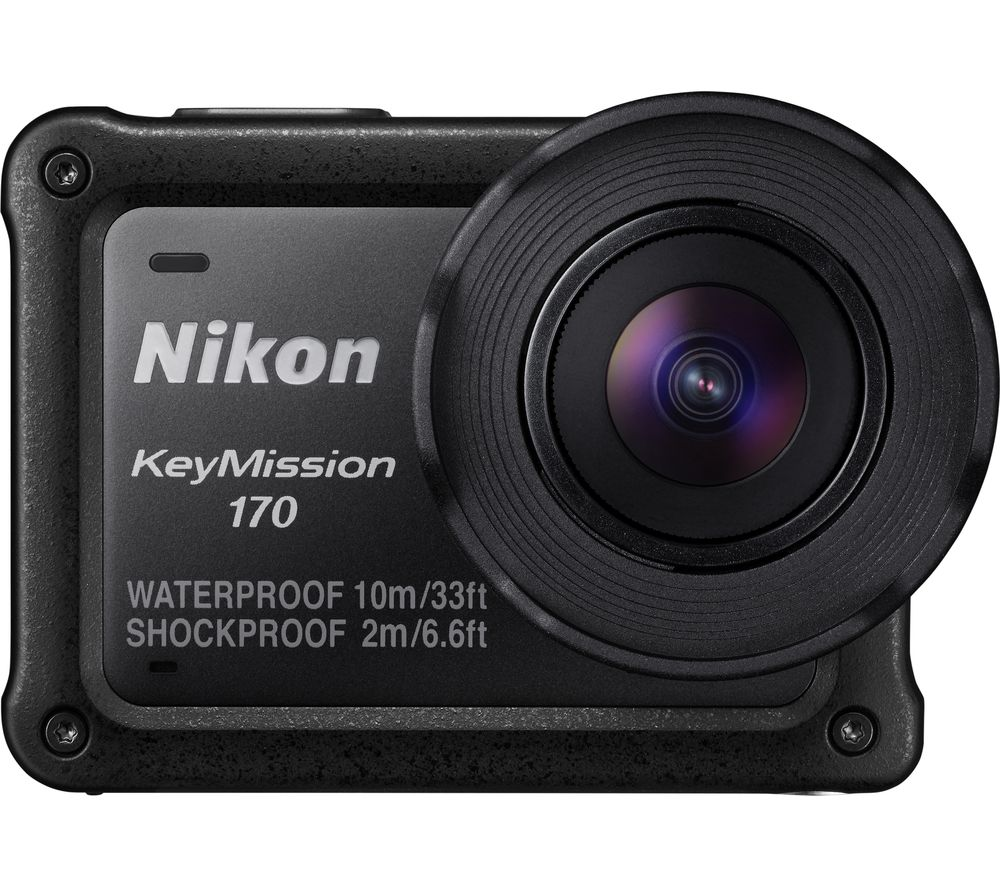 NIKON KeyMission 170 4K Ultra HD Action Camcorder - Black + EN-EL12 Lithium-ion Rechargeable Camera Battery