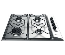 INDESIT PAA 642 IX/I WE Gas Hob - Silver