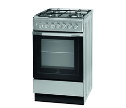 INDESIT I5GSH1(S) 50 cm Dual Fuel Cooker - Silver