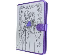 FROZEN Ana/Elsa Folio Tablet Case - White & Purple