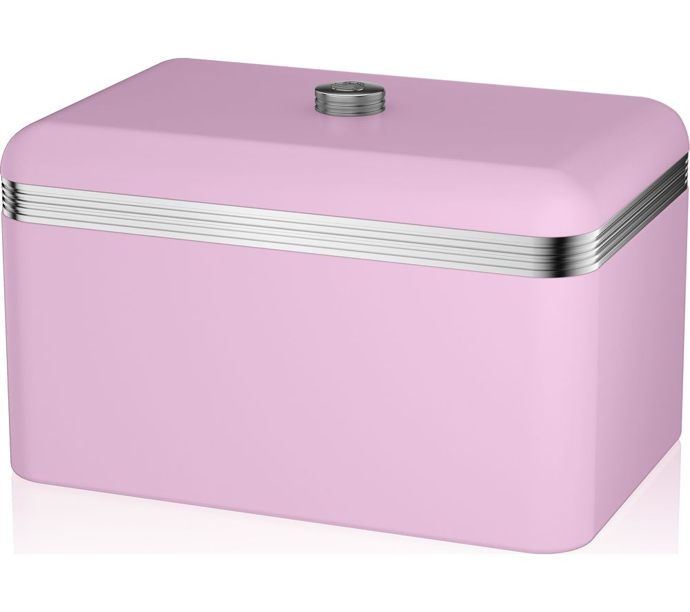 SWAN Retro Bread Bin - Pink