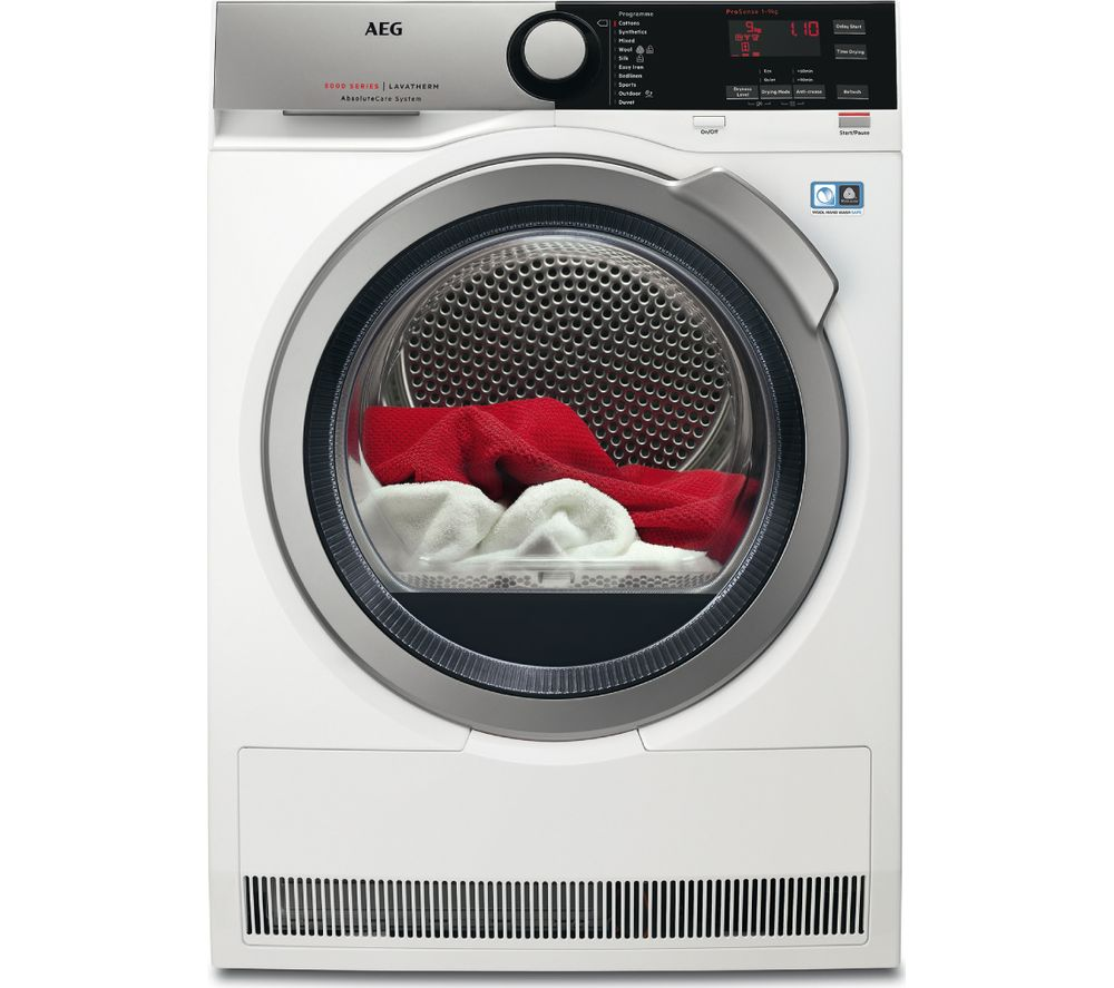 AEG AbsoluteCare T8DEE945R Condenser Tumble Dryer  White White