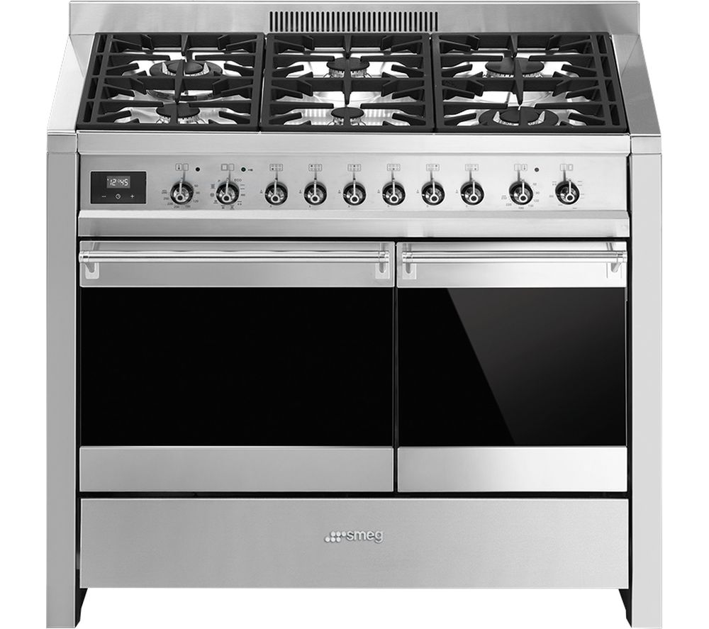 SMEG Opera 100 cm Dual Fuel Range Cooker - Stainless Steel