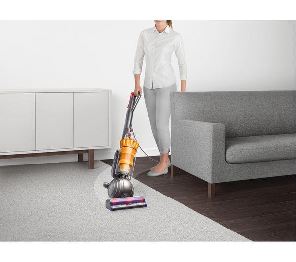dyson light ball multifloor upright bagless vacuum cleaner iron u0026 yellow