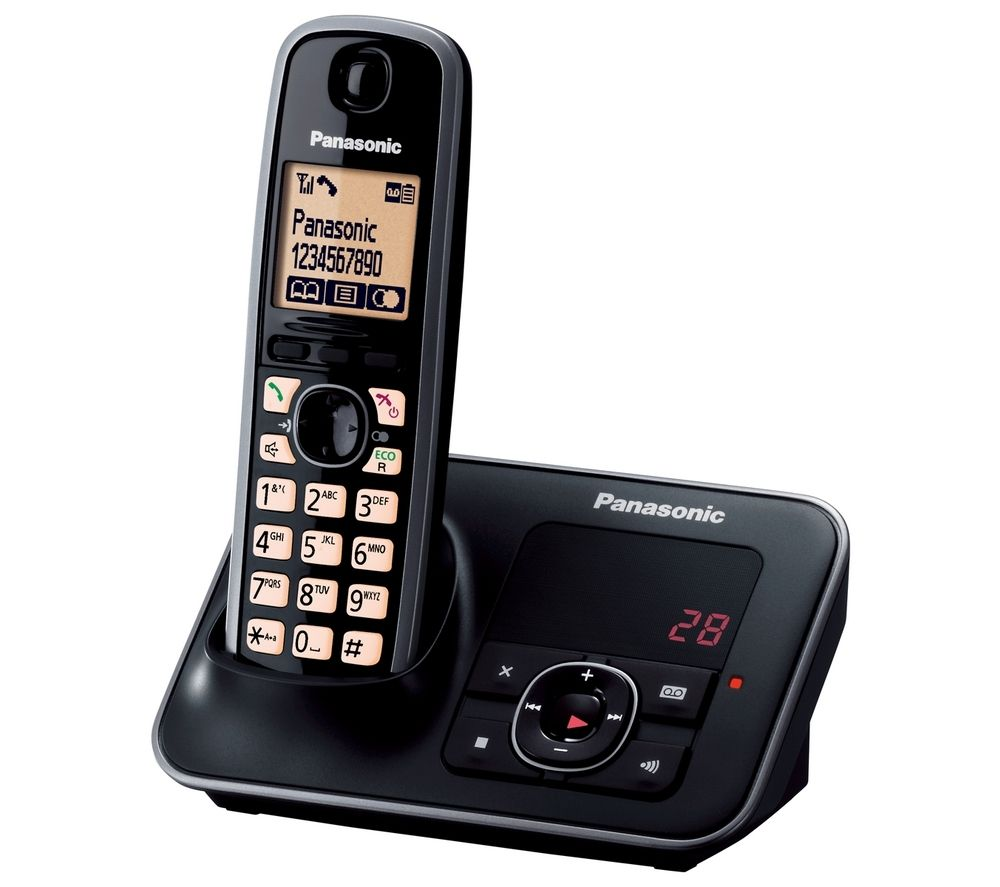 PANASONIC KX-TG6621EB Cordless Phone with Answering Machine