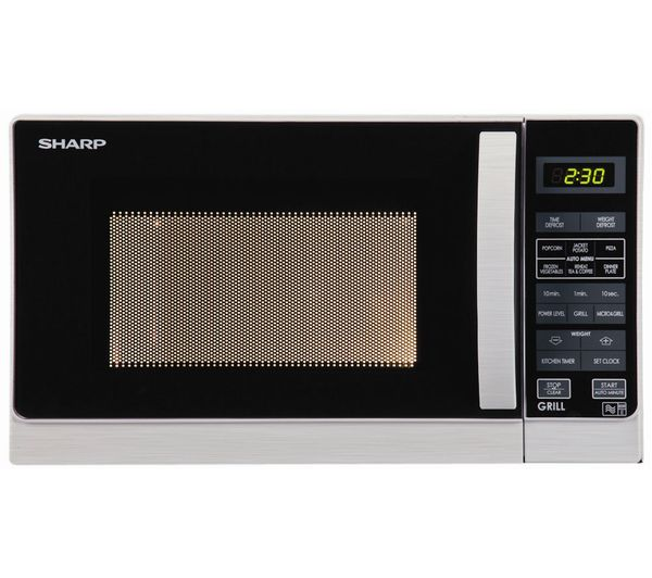 Sharp R662SLM Microwave with Grill  Silver Silver