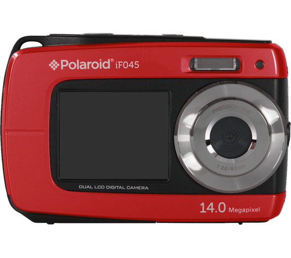 buy polaroid if045 waterproof compact digital camera red. Black Bedroom Furniture Sets. Home Design Ideas