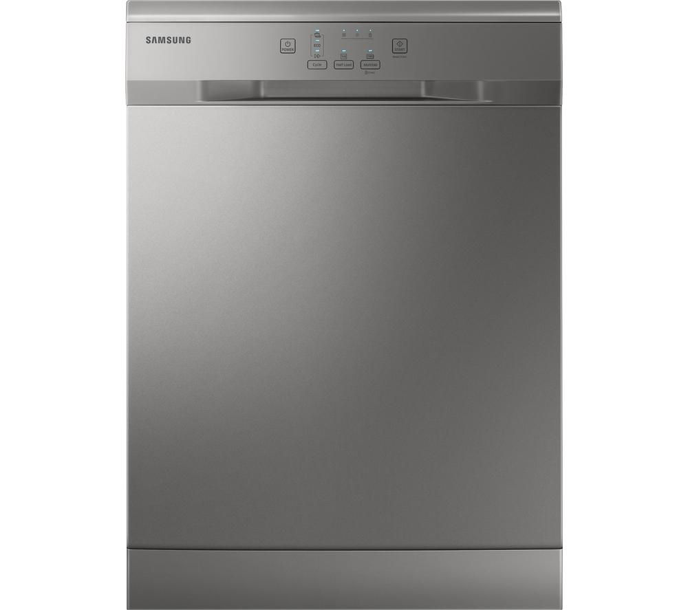 SAMSUNG DW60H3010FV Full-size Dishwasher - Silver + ecobubble WF80F5E2W4X Washing Machine - Graphite