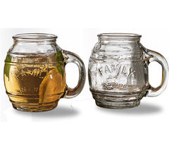 EDDINGTONS Family Recipe Small Barrel Mugs - Set of 4