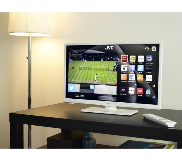 """Buy JVC LT-24C661 Smart 24"""" LED TV - White"""
