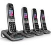 BT 8610 Cordless Phone with Answering Machine - Quad Handsets