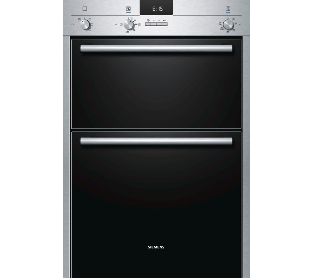 buy siemens hb13mb521b electric double oven stainless steel free delivery currys. Black Bedroom Furniture Sets. Home Design Ideas