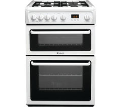 HOTPOINT Ultima HAG60P Gas Cooker - White