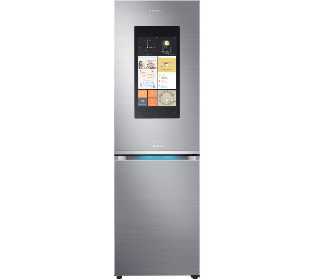 SAMSUNG Family Hub RB38K7998S4/EU Smart Fridge Freezer - Stainless Steel