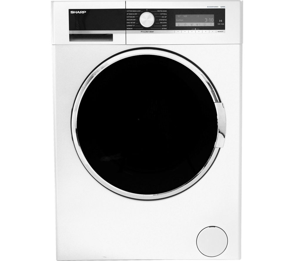 Image of SHARP ES-GDD9144W0 Washer Dryer - White, White