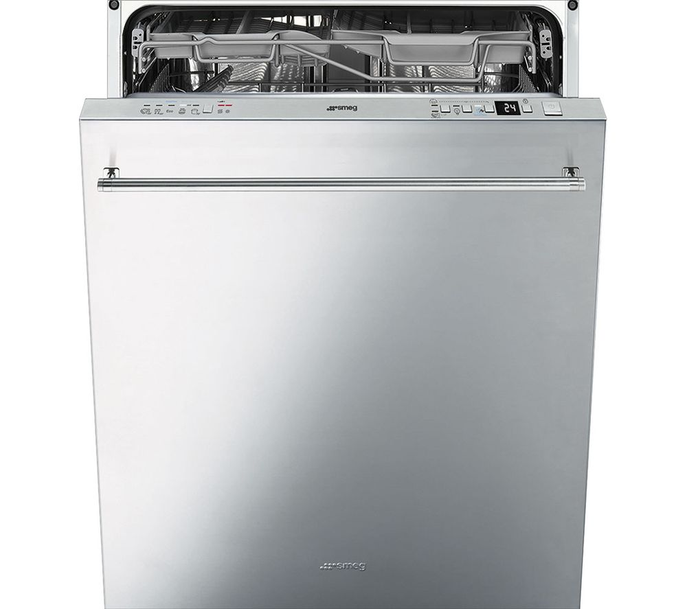 How To Clean The Inside Of A Stainless Steel Dishwasher Buy Smeg Di614pss Full Size Semi Integrated Dishwasher Stainless
