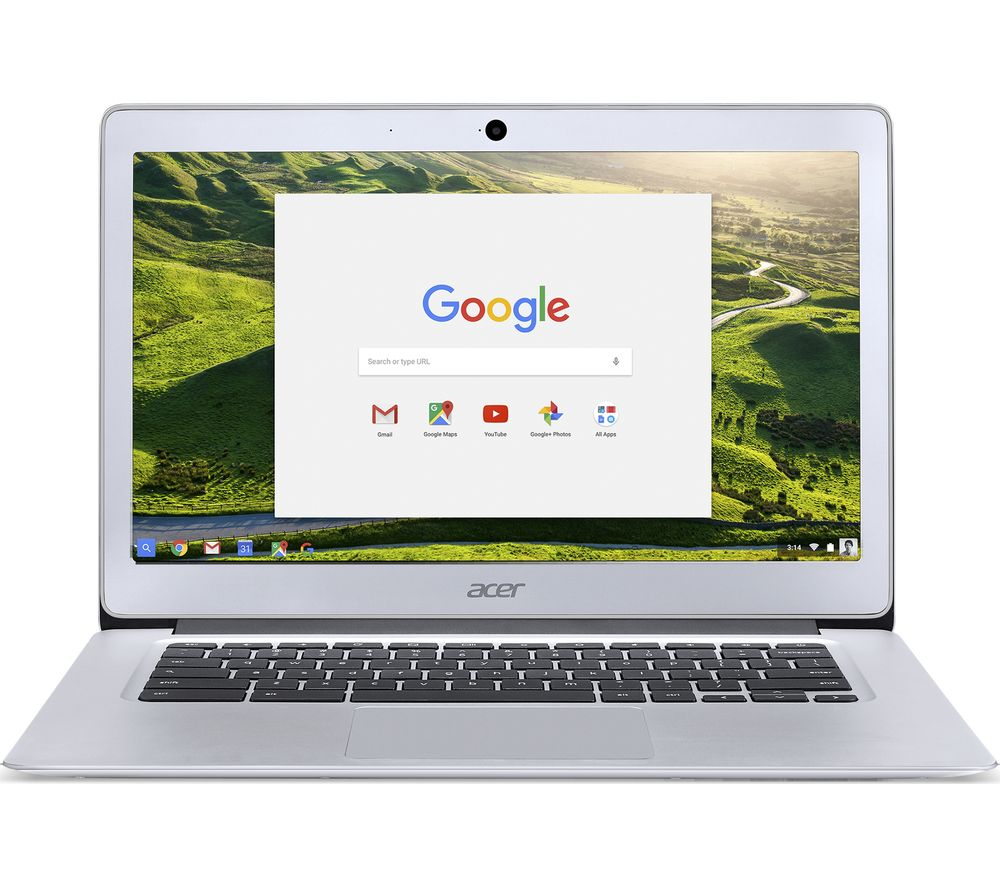 ACER 14 CB3-431 Chromebook - Silver + Cloud Storage for Tablets & Mobiles - 200 GB, 1 year