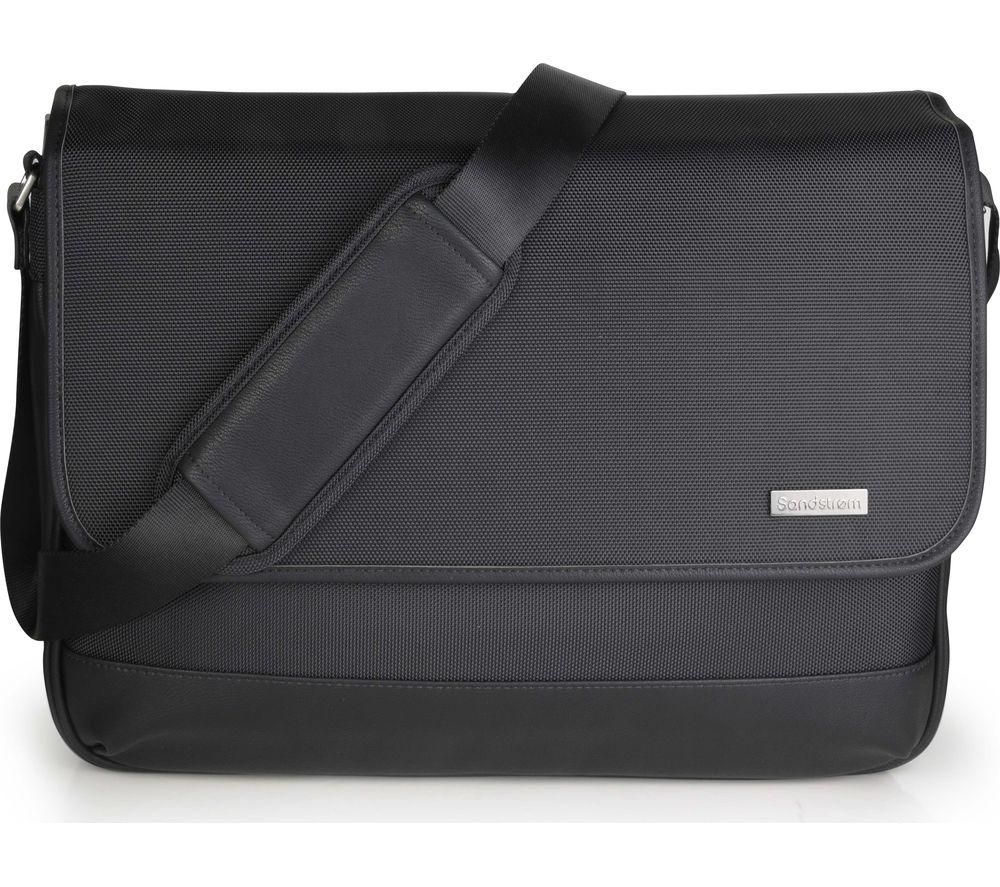 """SANDSTROM S16PMSB17 15.6"""" Laptop Messenger Bag - Black"""