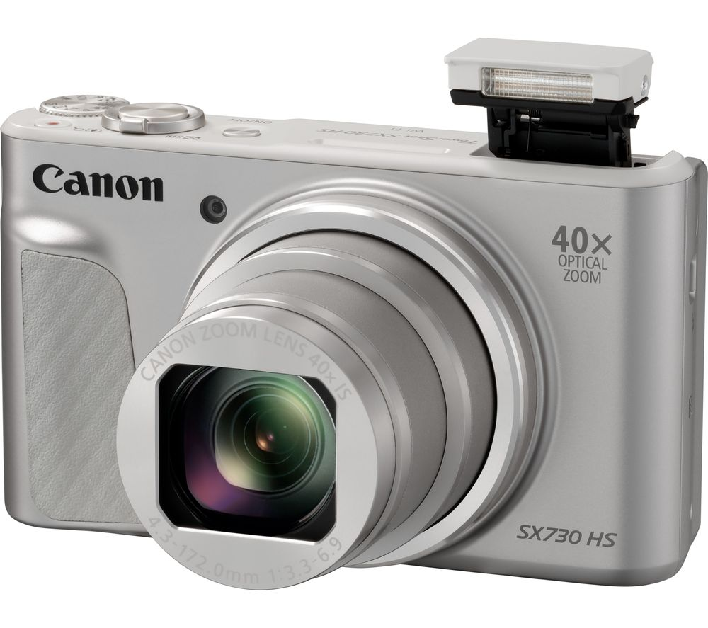 buy canon powershot sx730 hs superzoom compact camera silver free delivery currys. Black Bedroom Furniture Sets. Home Design Ideas