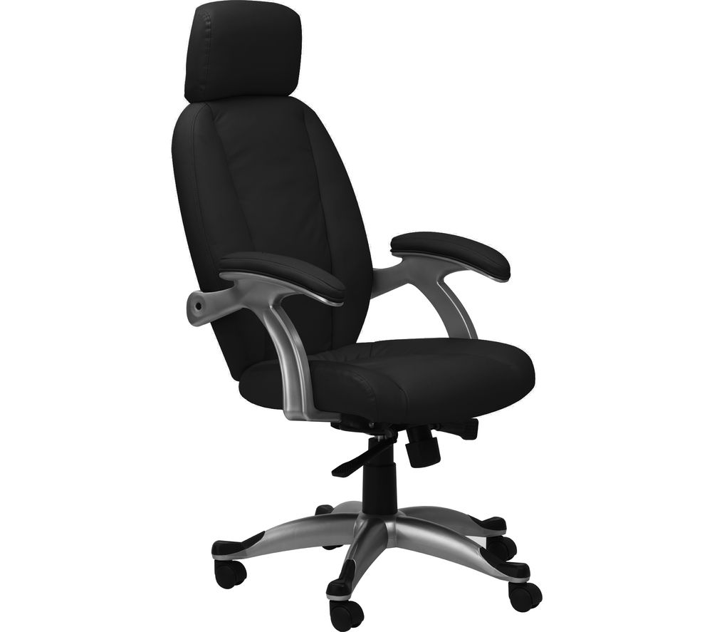 Image of ALPHASON Bentley AOC6355-L-BLK Leather Tilting Executive Chair - Black, Black