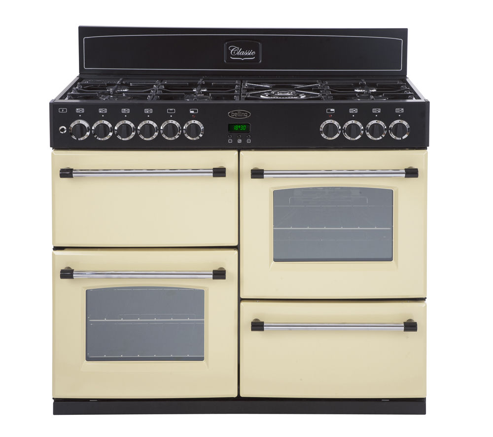 buy belling classic 100dft dual fuel range cooker cream. Black Bedroom Furniture Sets. Home Design Ideas
