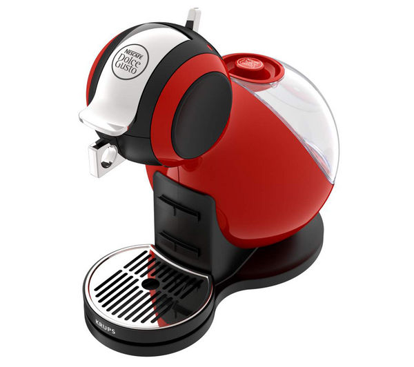 by Krups Melody 3 Hot Drinks Machine - Red + Dolce Gusto Latte Macchiato - Pack of 8