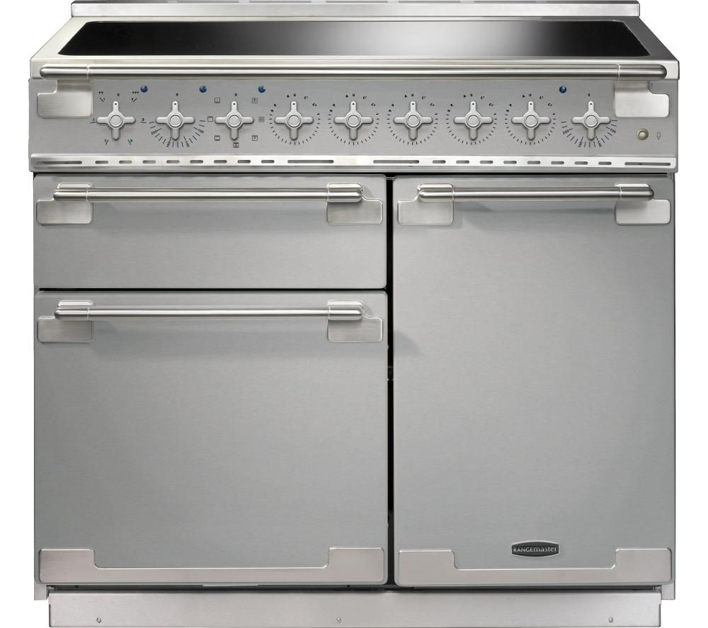 RANGEMASTER Elise 100 Electric Induction Range Cooker - Stainless Steel & Chrome