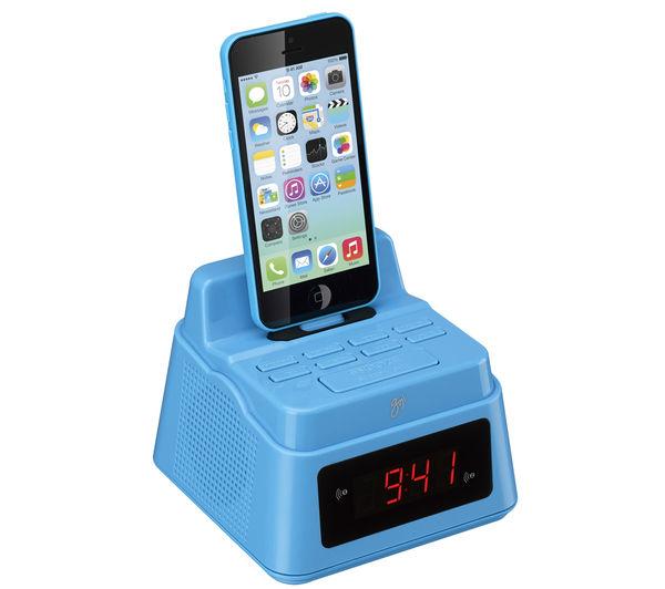 goji gcrlin14 analogue clock radio with lightning connector blue deals pc. Black Bedroom Furniture Sets. Home Design Ideas