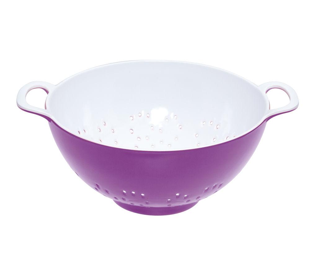 COLOURWORKS 700 ml Colander - Purple & White