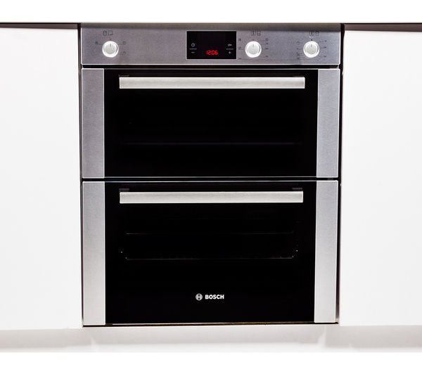 Delightful Large Built In Double Oven Part - 11: BOSCH HBN13B251B Electric Built-under Double Oven - Brushed Steel