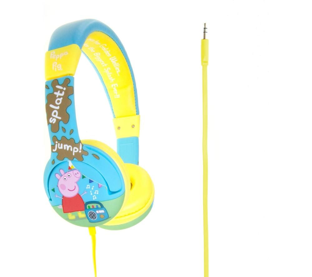Photo of Peppa pig muddy puddles kids headphones - blue- blue
