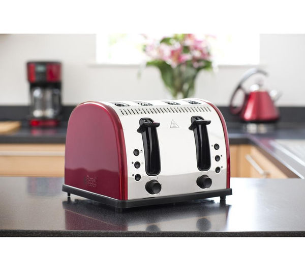 buy russell hobbs legacy 21301 4 slice toaster red free delivery currys. Black Bedroom Furniture Sets. Home Design Ideas