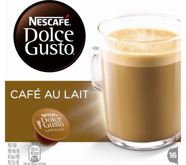 buy nescafe dolce gusto caf au lait pack of 16 free. Black Bedroom Furniture Sets. Home Design Ideas