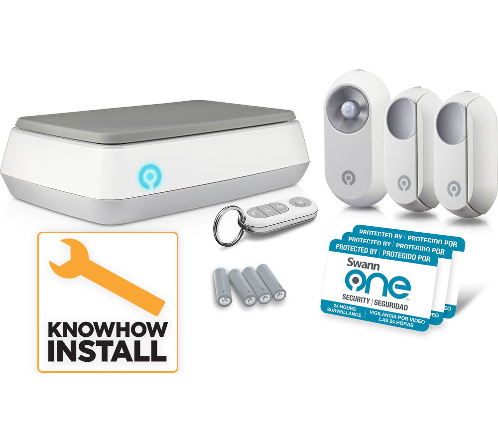 knowhow swannone alarm starter kit smart home. Black Bedroom Furniture Sets. Home Design Ideas