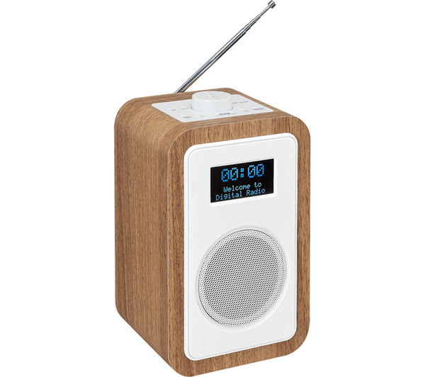 buy jvc ra d51 dab fm clock radio wood white free delivery currys. Black Bedroom Furniture Sets. Home Design Ideas