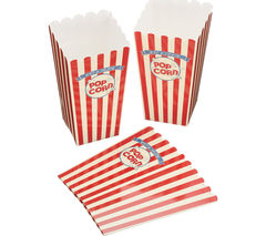 KITCHEN CRAFT World of Flavours Stateside Paper Popcorn Boxes - Pack of 6