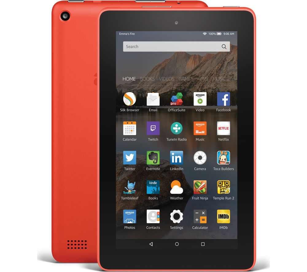 Image of Amazon Fire 7 Tablet - 16 GB, Tangerine