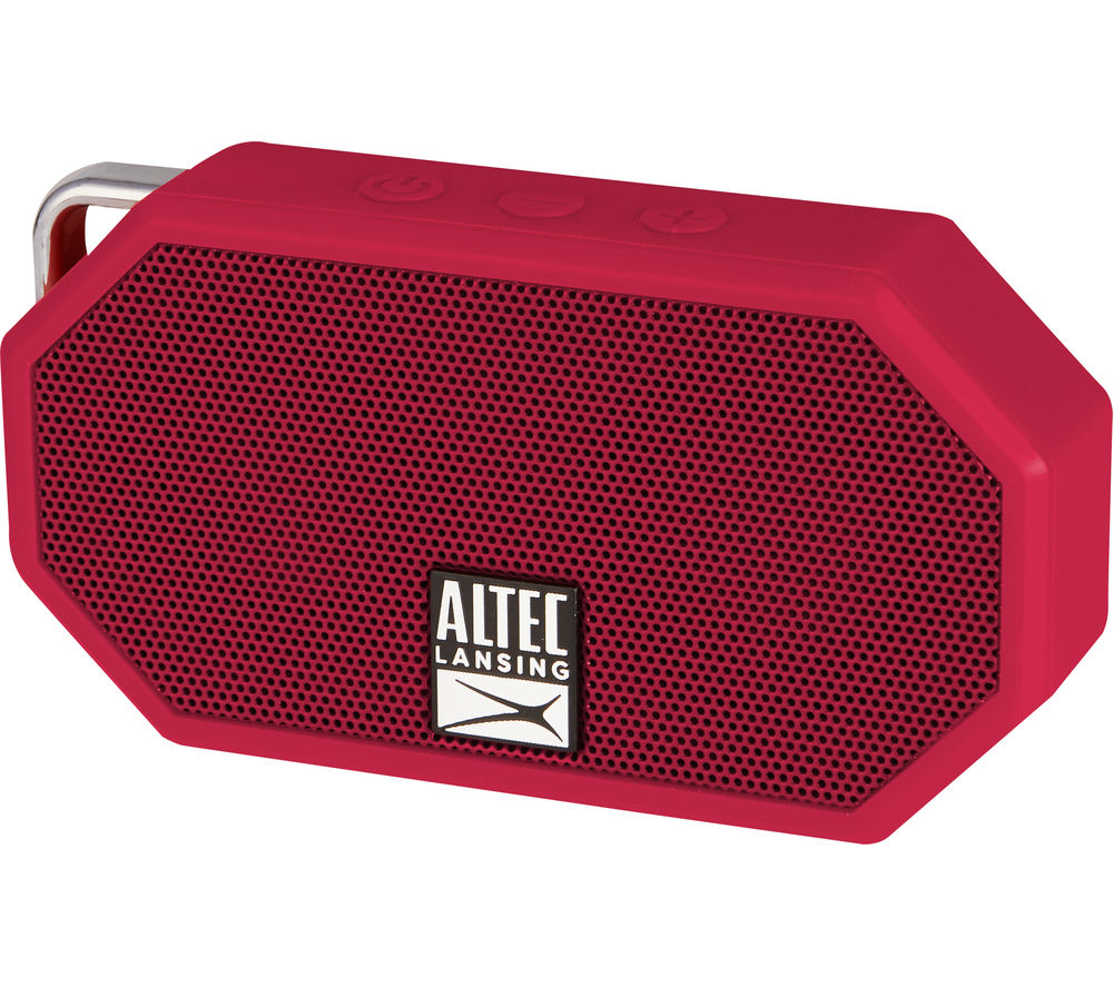 Click to view more of ALTEC LANSING  Mini H20 II Portable Wireless Speaker - Red, Red