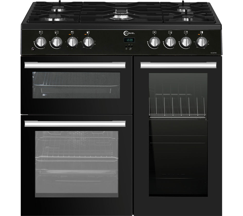 buy flavel mln9frk 90 cm dual fuel range cooker black. Black Bedroom Furniture Sets. Home Design Ideas