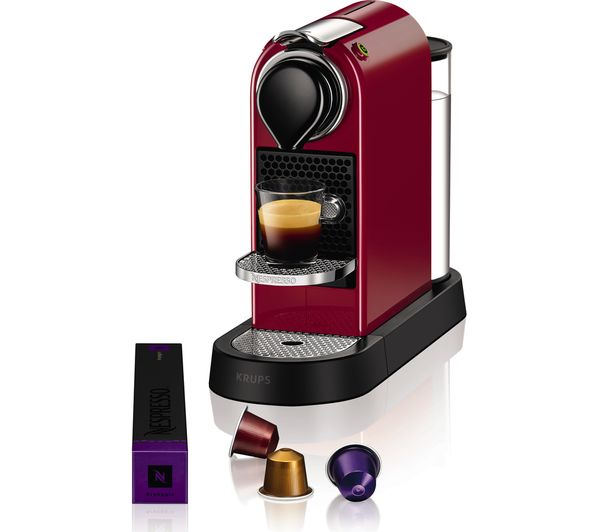 Buy nespresso by krups citiz coffee machine red free delivery currys - Machine a cafe krups nespresso ...