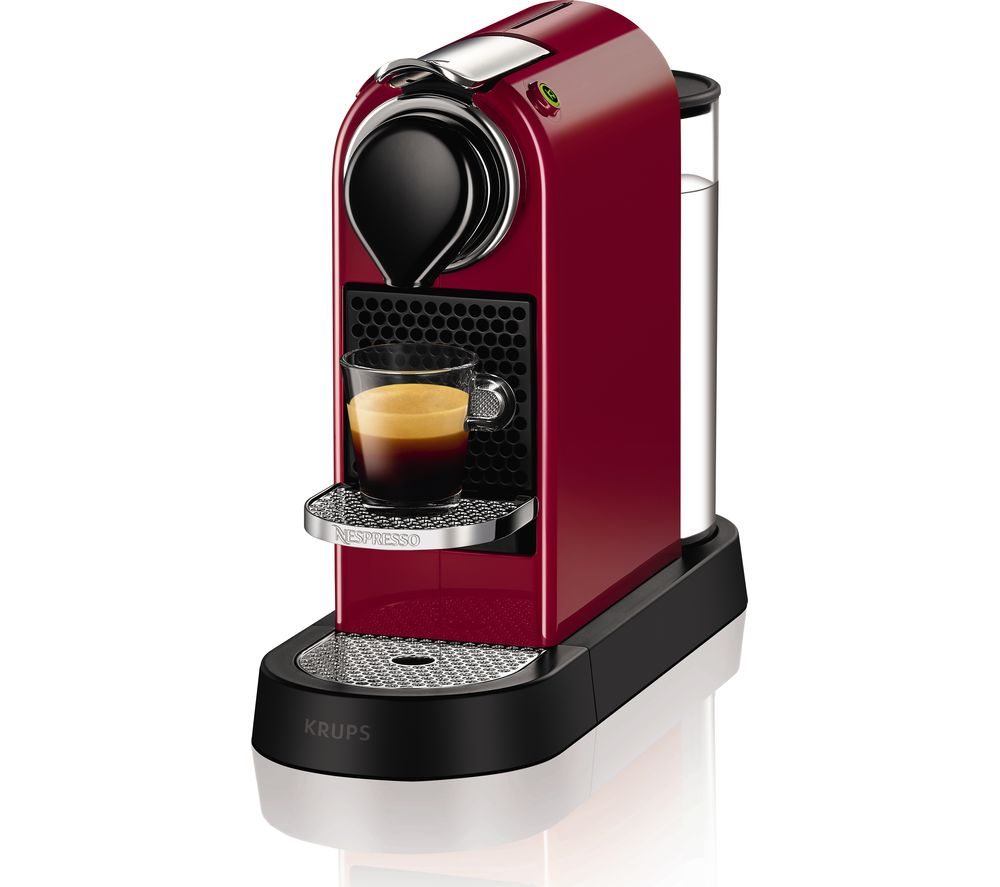 buy nespresso by krups citiz coffee machine red free delivery currys. Black Bedroom Furniture Sets. Home Design Ideas