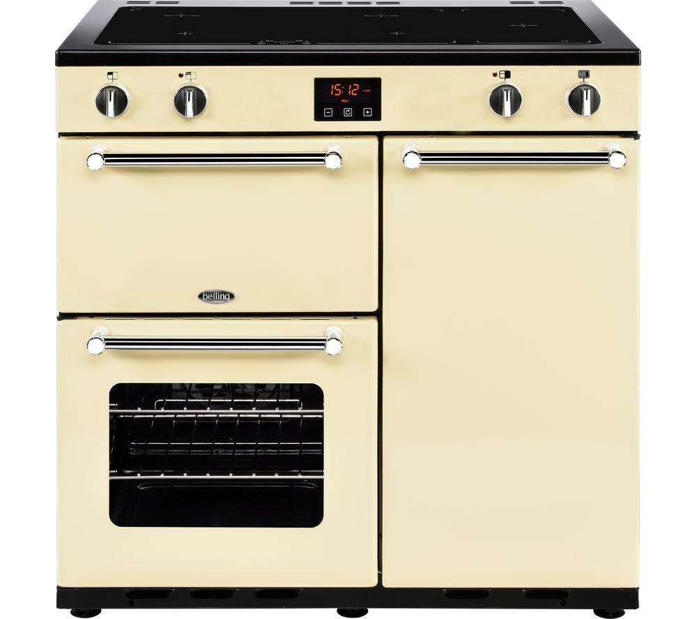 BELLING Kensington 90 cm Electric Induction Range Cooker - Cream & Chrome