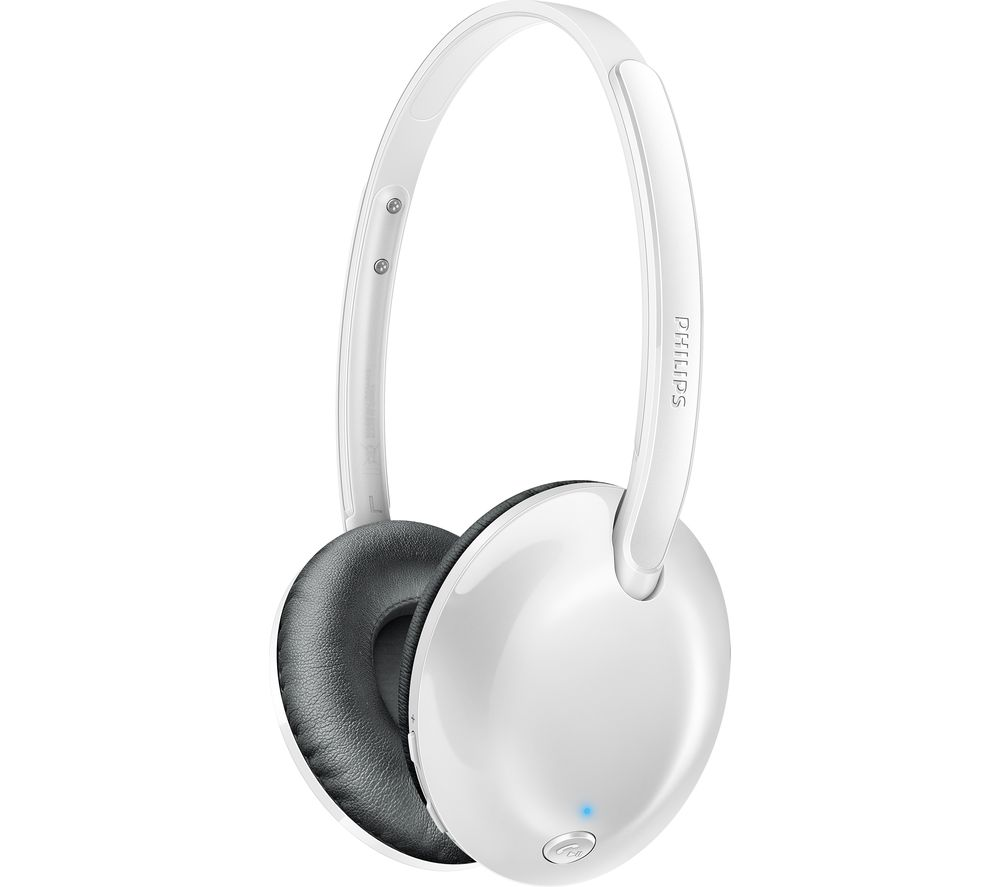 PHILIPS SHB4405WT Wireless Bluetooth Headphones - White