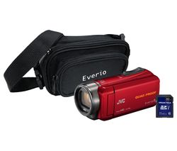 JVC GZ-R435 Camcorder Kit - Red
