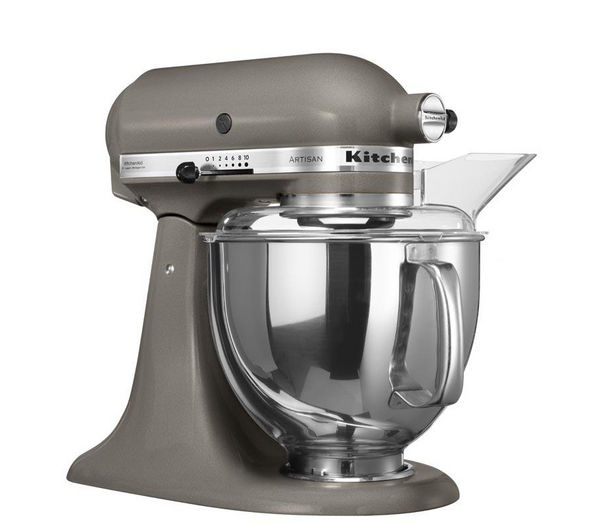 Buy kitchenaid 5ksm150psbms artisan stand mixer medallion silver free delivery currys - Kitchenaid artisan stand mixer parts ...