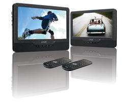 LOGIK L9DUALM13 Dual Screen Portable DVD Player - Black