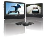 LOGIK  L9DUALM13 Dual Screen Portable DVD Player - Black, Black.